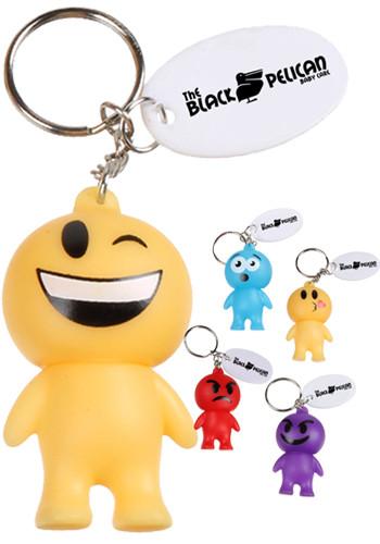 Rubber Emoji Man Keychains   EDEMJ157