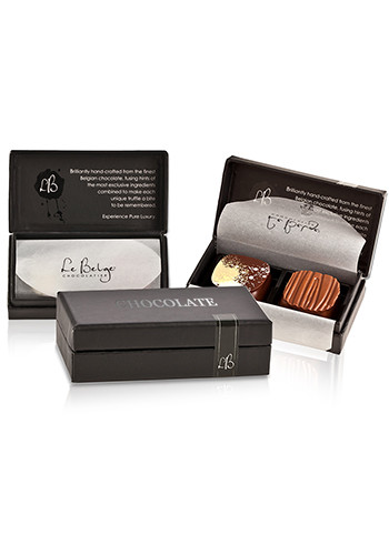 Two-piece Flavored Belgian Chocolate Gift Boxes | X10334