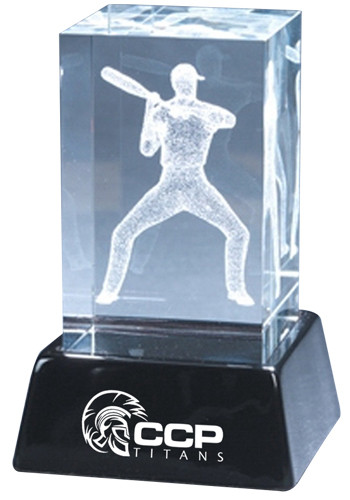 Wholesale 3D Crystal Baseball Sculptures