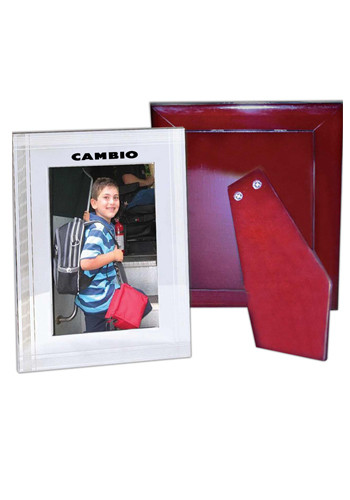 5W x 7H inch Metal Photo Frames with Wood Back | NOI60M2260
