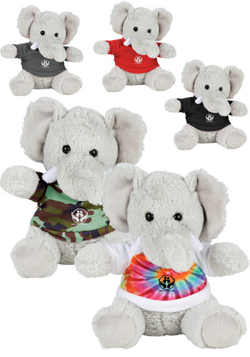 Promotional 6 in. Plush Elephants with Shirt