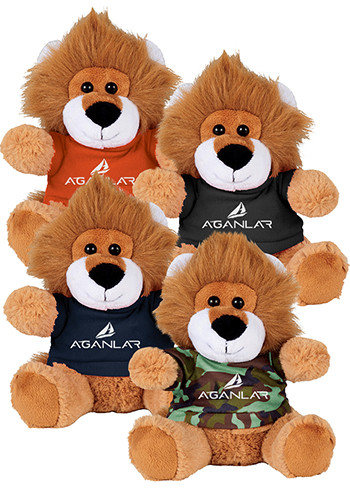 Custom 6 in. Plush Lions with Shirt