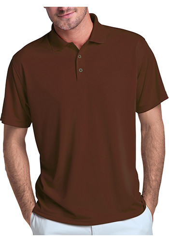 Vansport Men's Omega Solid Mesh Tech Polo Shirts | 2600