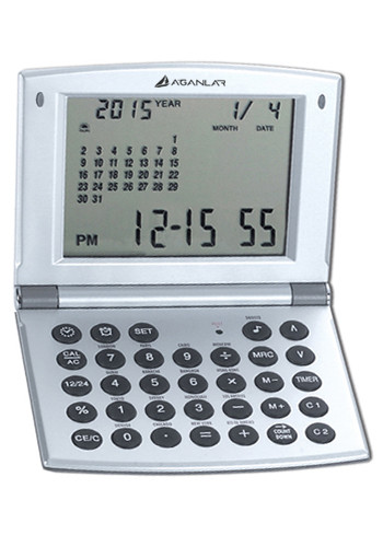 World Time Alarm Clocks with Calendar and Calculator | NOI10WT208