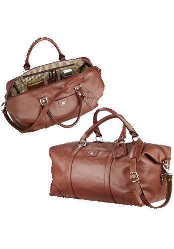 Custom Cutter & Buck Leather Weekender Duffle Bags