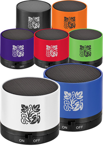 Customized Cylinder Bluetooth Speakers
