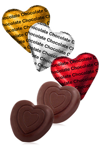 Customized Delicious Belgian Chocolate Hearts
