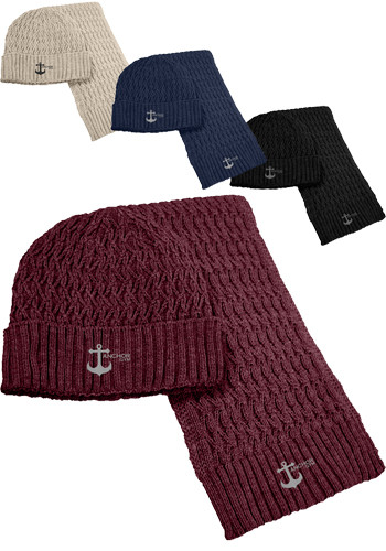 Beanie and Scarves Set