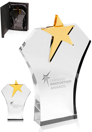 Personalized Black Glass Bottom Awards
