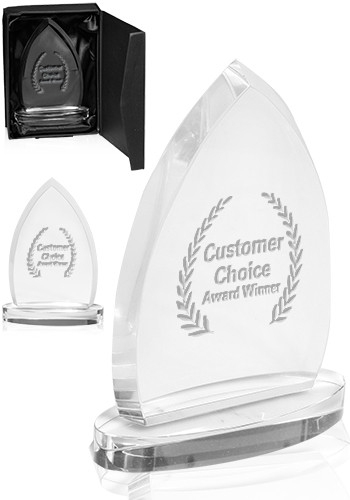 Customized Clear Flame Glass Awards