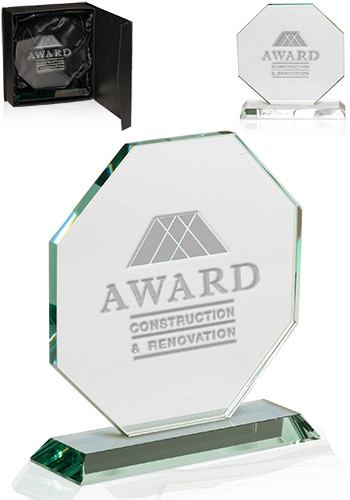 Custom Octagon Glass Awards