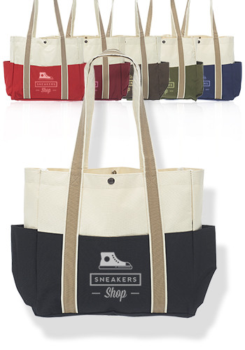 Dual Color Shoulder Tote Bags