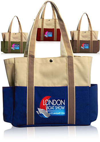 Dual Colored Tote Bags