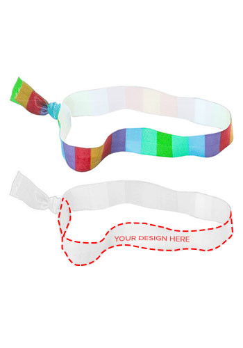 Promotional Dye-Sublimated Fold Over Elastic Headbands