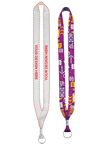 Bulk Dye-Sublimated Lanyards with Metal Crimp and Bottle Opener