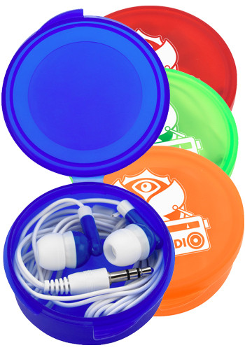 Ear Buds in Round Case | X10046