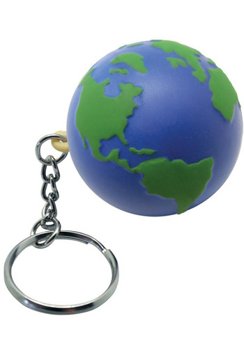 Customized Earth Stress Ball Keyrings