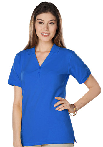 Blue Generation Ladies Soft Touch S/S Y-Placket Polo Shirts | BGEN6505