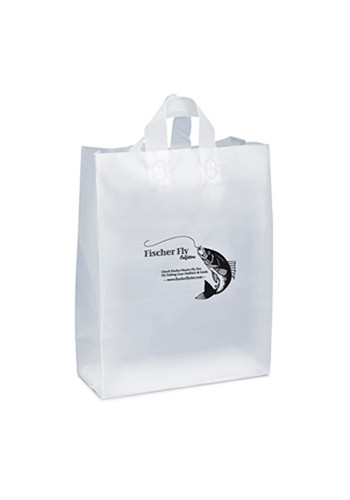 Custom Shopping Frosted Plastic Bags