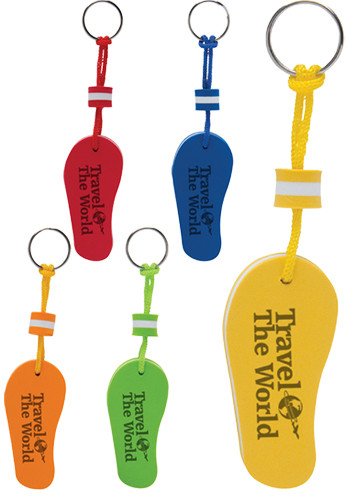 EVA Foam Floating Flip Flop Keytags | IL104
