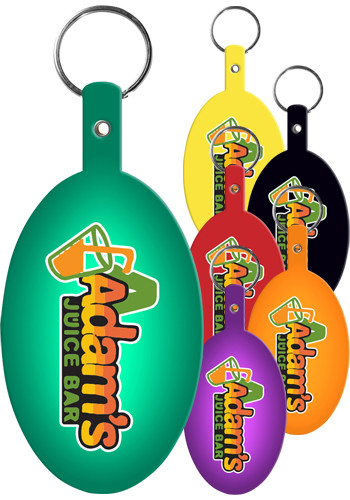 Large Oval Flexible Key Tags | EM533