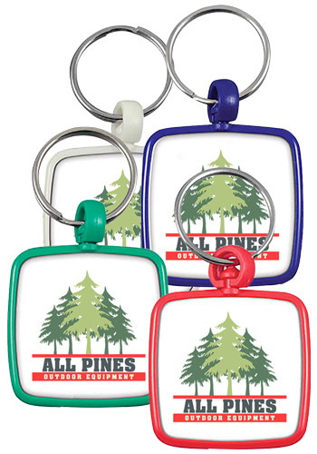 Square Swivel Key Tags