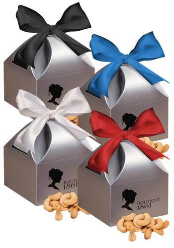 Extra Fancy Jumbo Cashews in  Silver Gift Box   MRSCT102