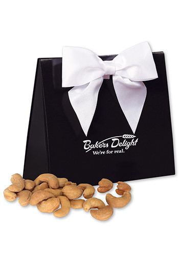 Wholesale Extra Fancy Jumbo Cashews in  Black Gift Box