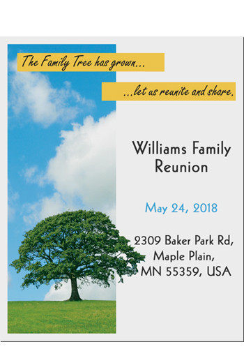 Family Tree Save the Date Magnets | MGS217QQ