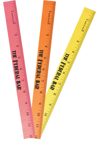 Fluorescent  Wood Rulers | AK94412