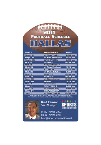 Wholesale Football Schedule Magnets