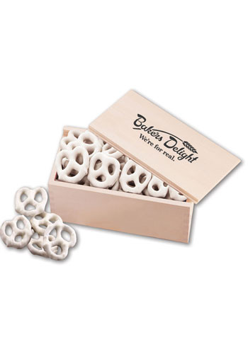 Frosted Pretzels in  Wooden Collectors Box | MRK145