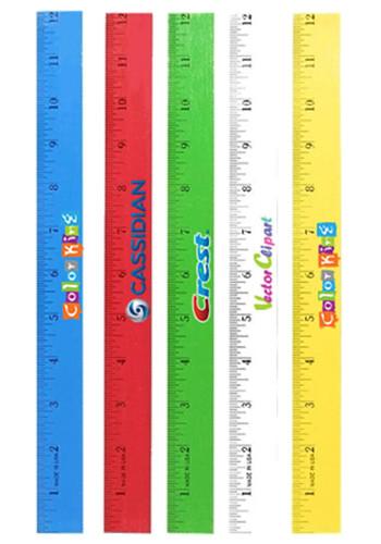 Personalized 12 Inch Enamel Wood Rulers Ak8095412