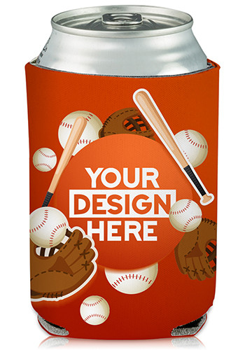 Collapsible Beer Can Cooler Baseball Lover Print | KZ416