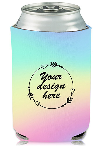 Custom Collapsible Can Cooler Cotton Candy Print