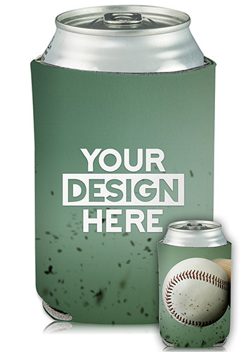 Collapsible Can Cooler Fast Ball Print | KZ414