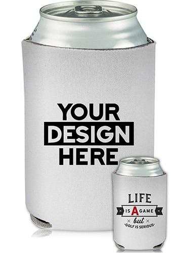 Collapsible Can Cooler Golf Is Serious Print | KZ435