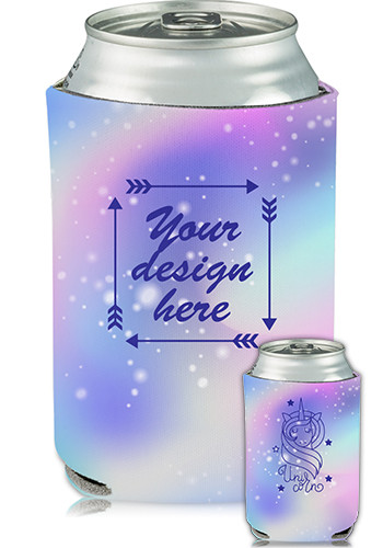 Customized Collapsible Can Cooler Unicorn Print
