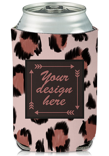 Wholesale Collapsible Can Cooler Wild Cat Print