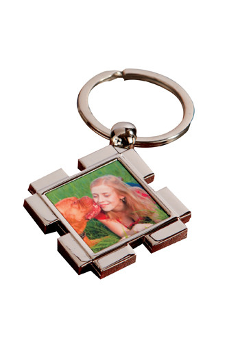 Customized Full Color Key Ring Square