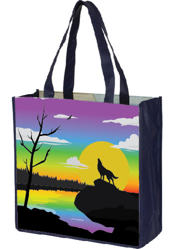 Full Color Sublimation Grocery Shopping Tote Bags |IV953OP3