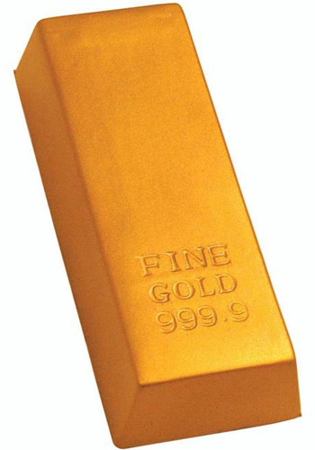 Gold Bar Stress Balls | AL26390