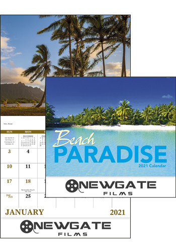 Good Value Beach Paradise Stapled Calendars |X30236