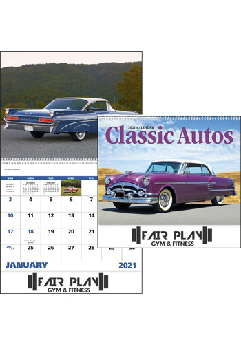 Bulk Good Value Classic Autos Spiral Calendars
