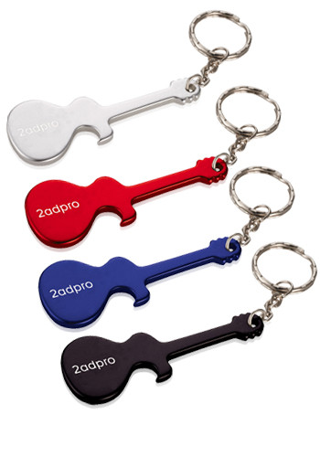 personalized logo guitar shaped keychains at wholesale prices. Black Bedroom Furniture Sets. Home Design Ideas