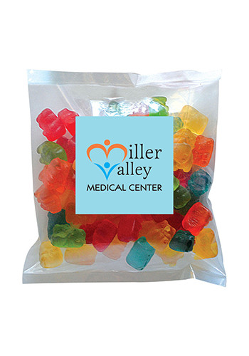Promotional Gummy Bears in Small Label Pack