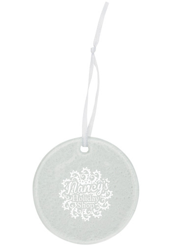 Customized Hammered Circle Glass Ornaments