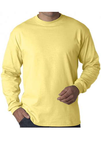 Hanes Tagless Beefy-T Long Sleeve T-shirts | 5186