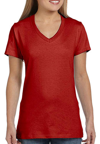 Hanes Ladies nano-T V-Neck T-Shirts | S04V
