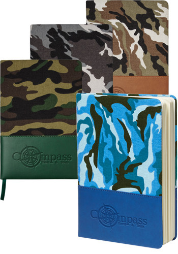 Hard Cover Camo Canvas Journals
